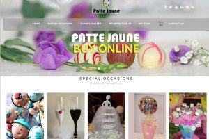 Patte Jaune chocolates & Gifts website