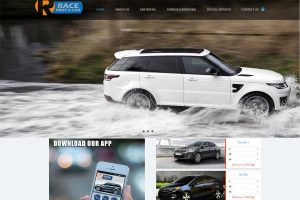 race rent a car website