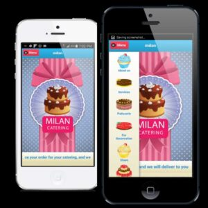 sweets and cakes shop mobile app
