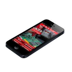 electronics company mobile app