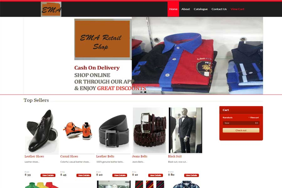 EMA ecommerce Mobile Application system,mobile app development