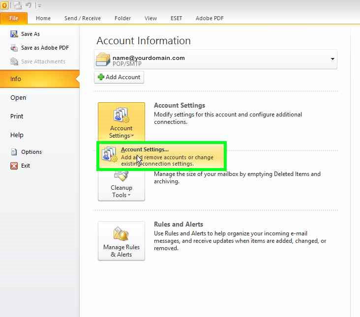how to change your password in outlook